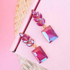 Earrings Purple Tanda C
