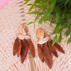 Earrings Brown Elia