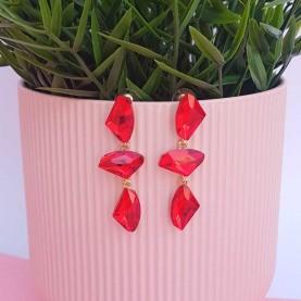 Red Earrings Alba