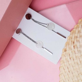 Long Steel earrings S.