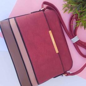 Shoulder bag Mixed Maroon