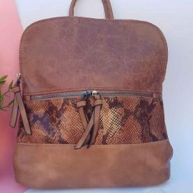 mochila mujer camel