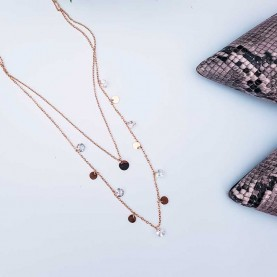Necklace Double CerclesO