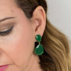 Earrings MaryGinel P1101 Green