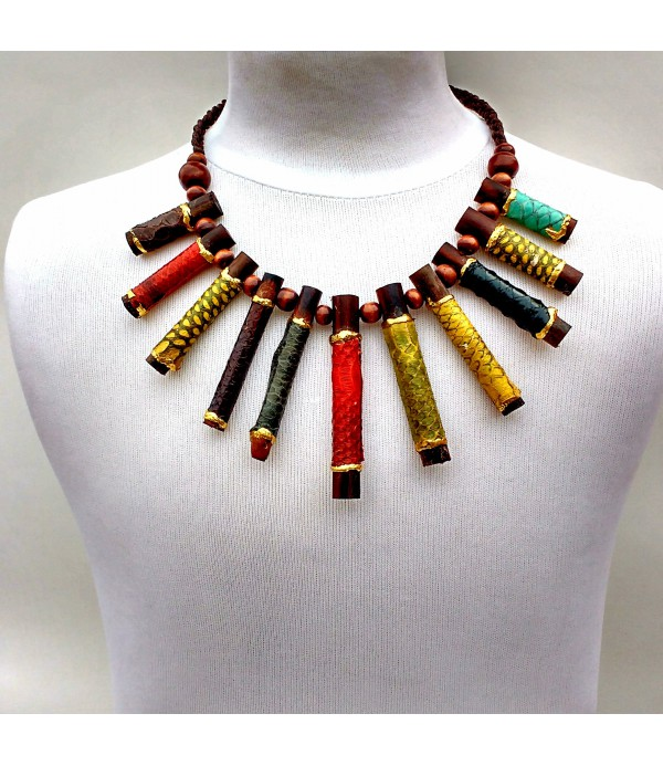 0c06c957e72c Collar madera natural troncos - Comprar collares online