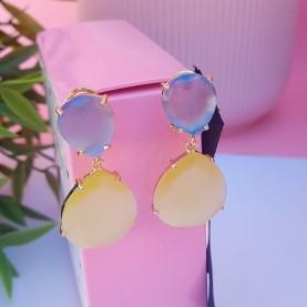 Earrings MG P1101 Blue+Yw