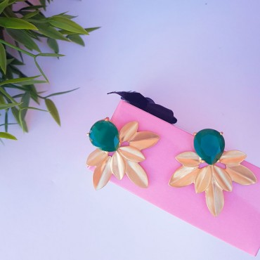 Earrings MG P1104 green