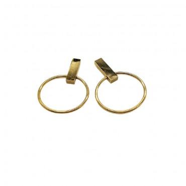 Golden earrings Amber