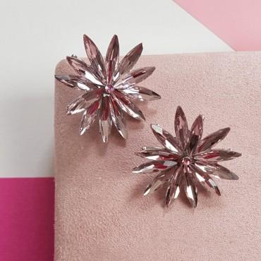 Earring Roseton light pink