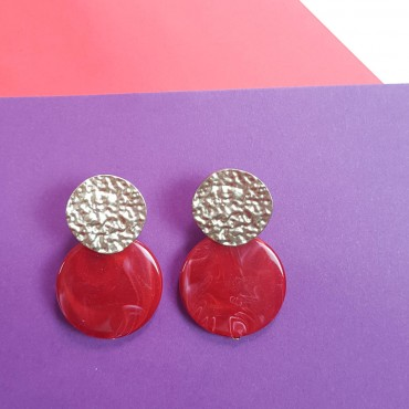 Red Earrings Musa
