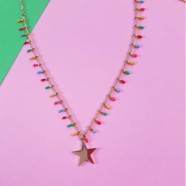 Steel Necklace Rainbow S