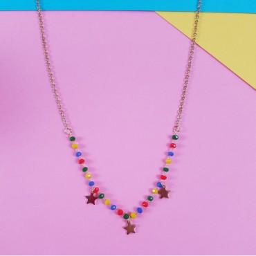 Necklace stars Multicolor