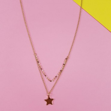 Double necklace Star