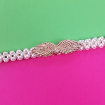 Elastic Pearls Belt