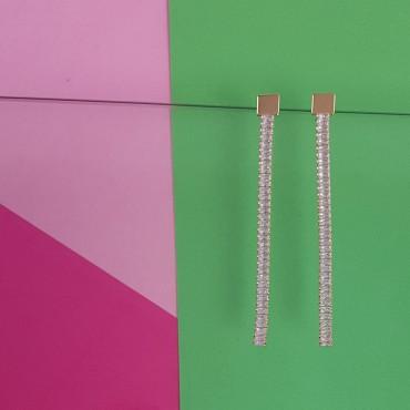 Earrings Glitter Long