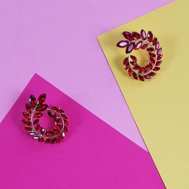 Pendientes Rojos Espiral