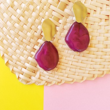 Purple earrings Trina