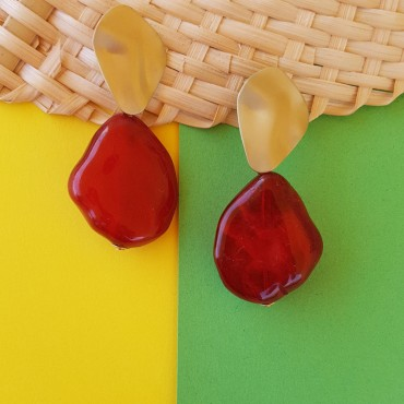Red earrings Trina