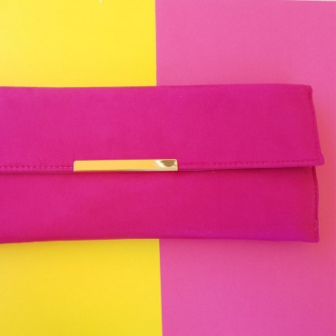 Hand Bag Long Fushia