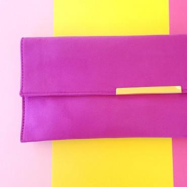 Hand Bag Long Purple