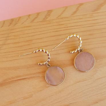 Steel Earrings StoneC
