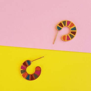 Steel Earrings Colores