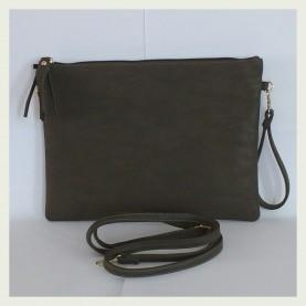 Bolso bandolera básico gris tamaño XL