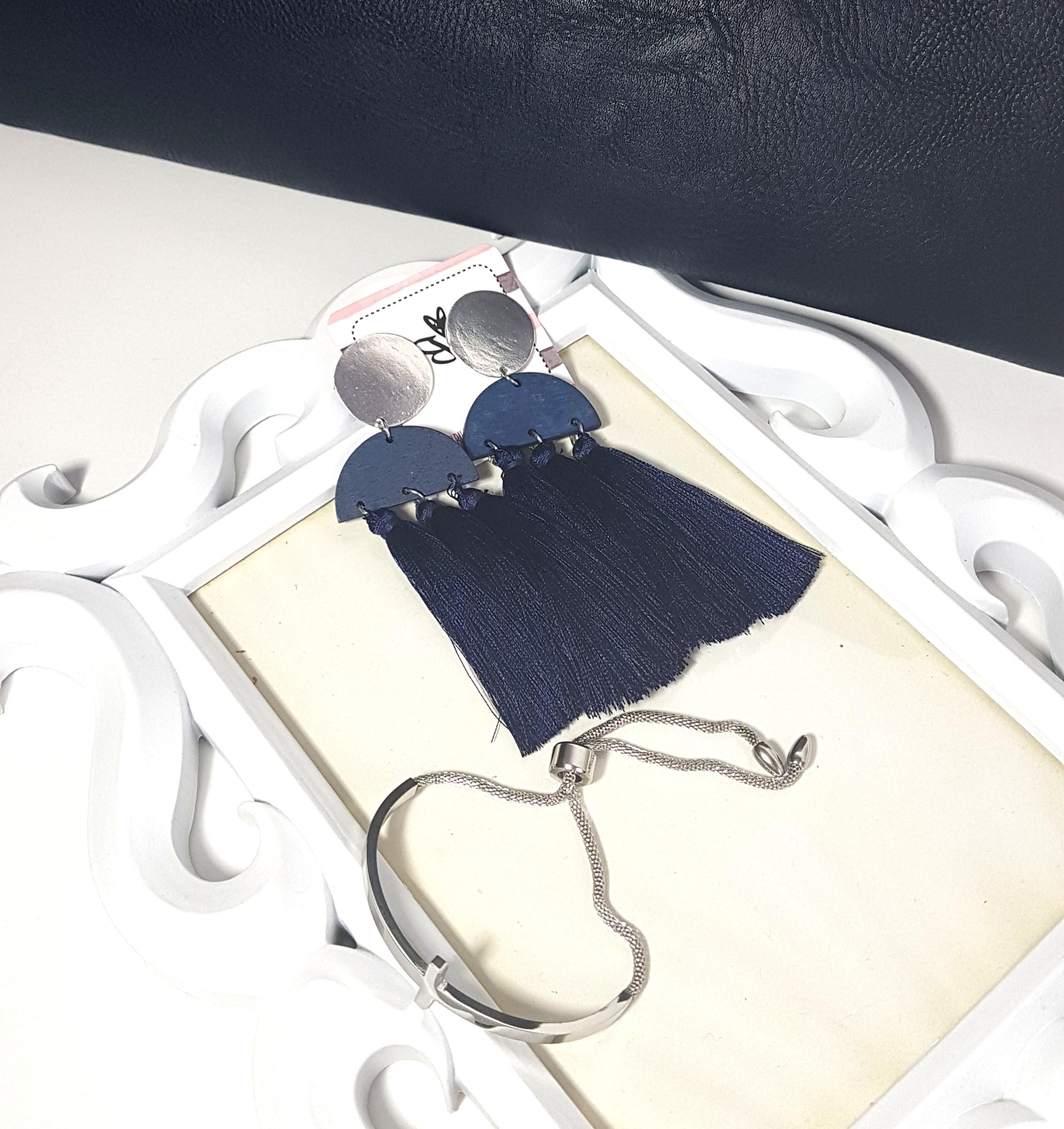 Complementos para vestido azul marino