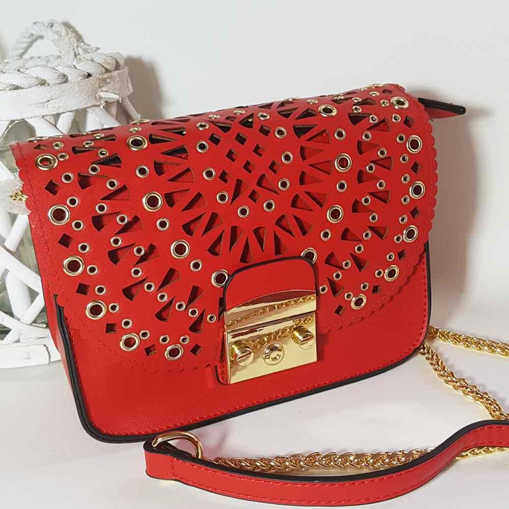 Bolso rojo mujer