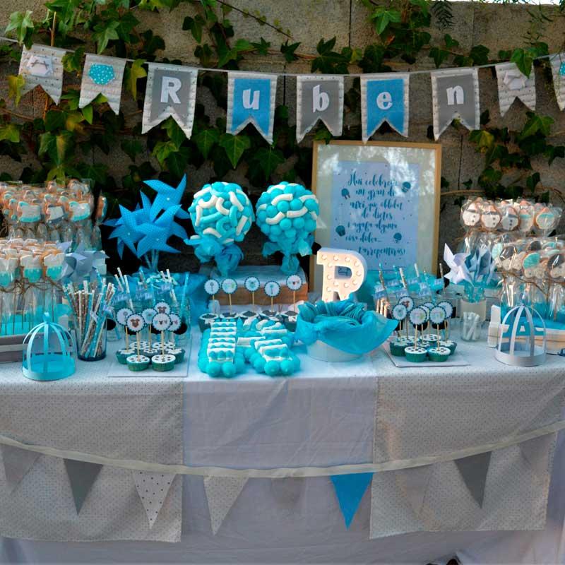 Mesa dulce azul