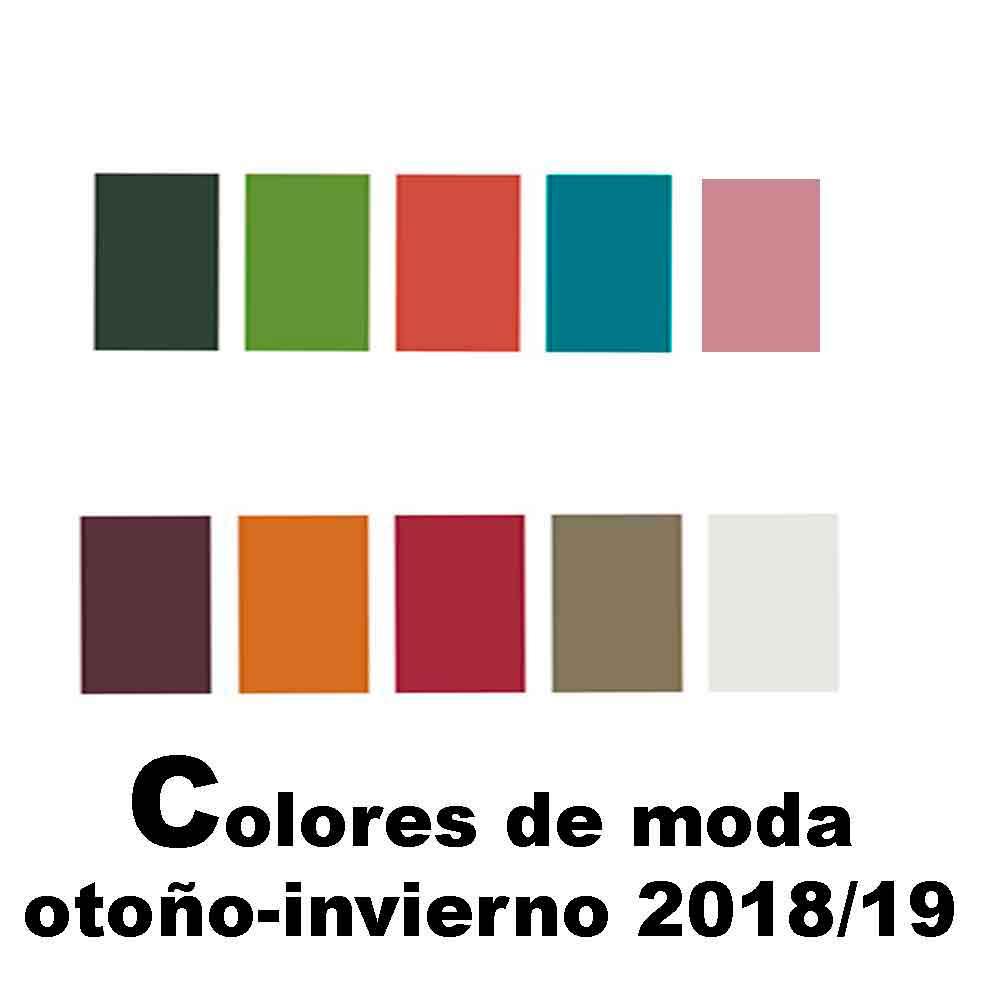 colores de moda otoño-invierno 18/19