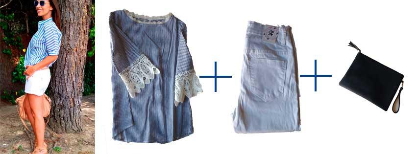 combinar pantalón blanco