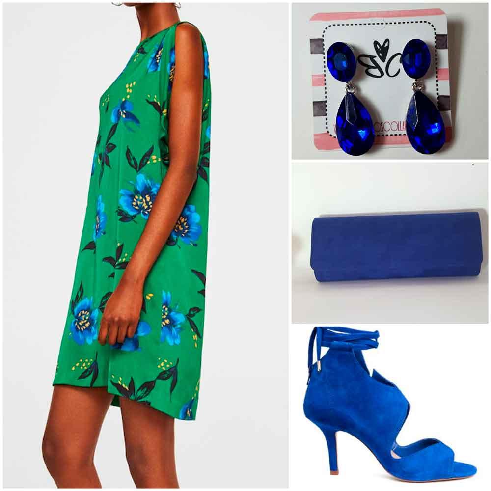 look verde y azul