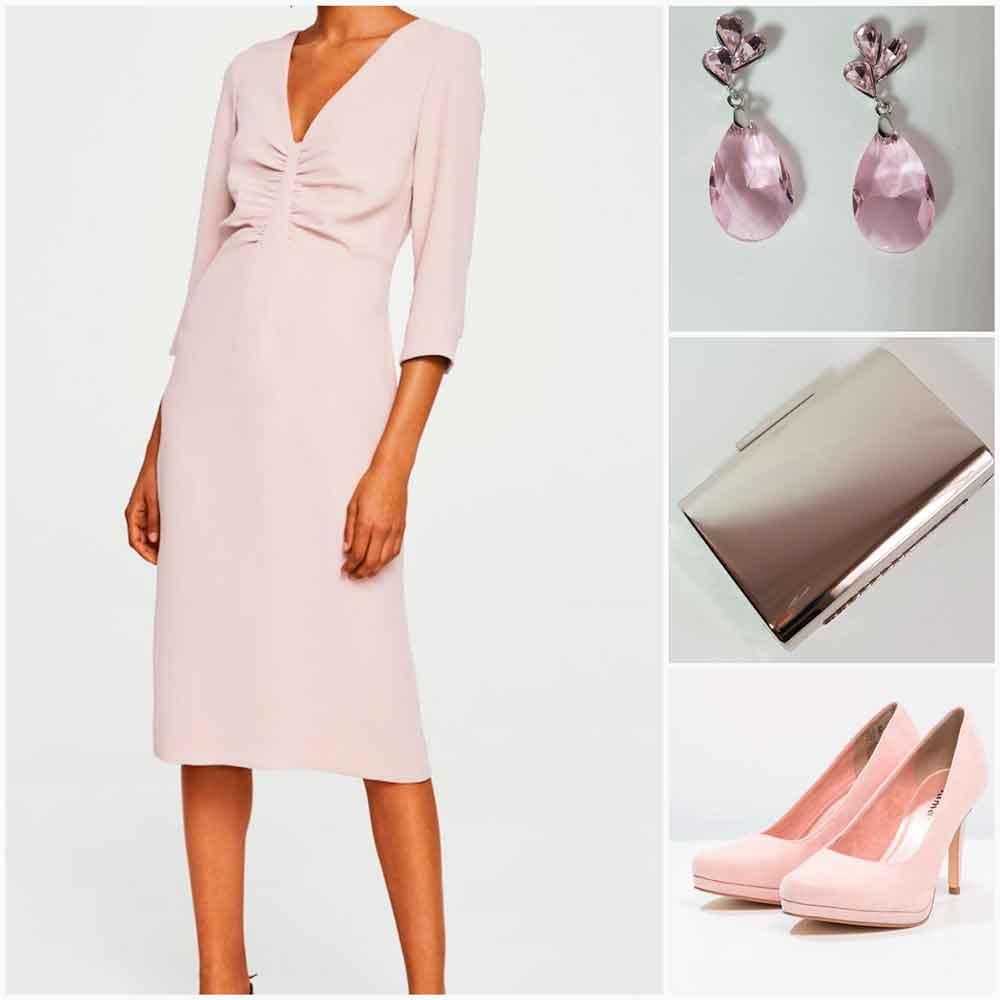 look rosa palo y plata