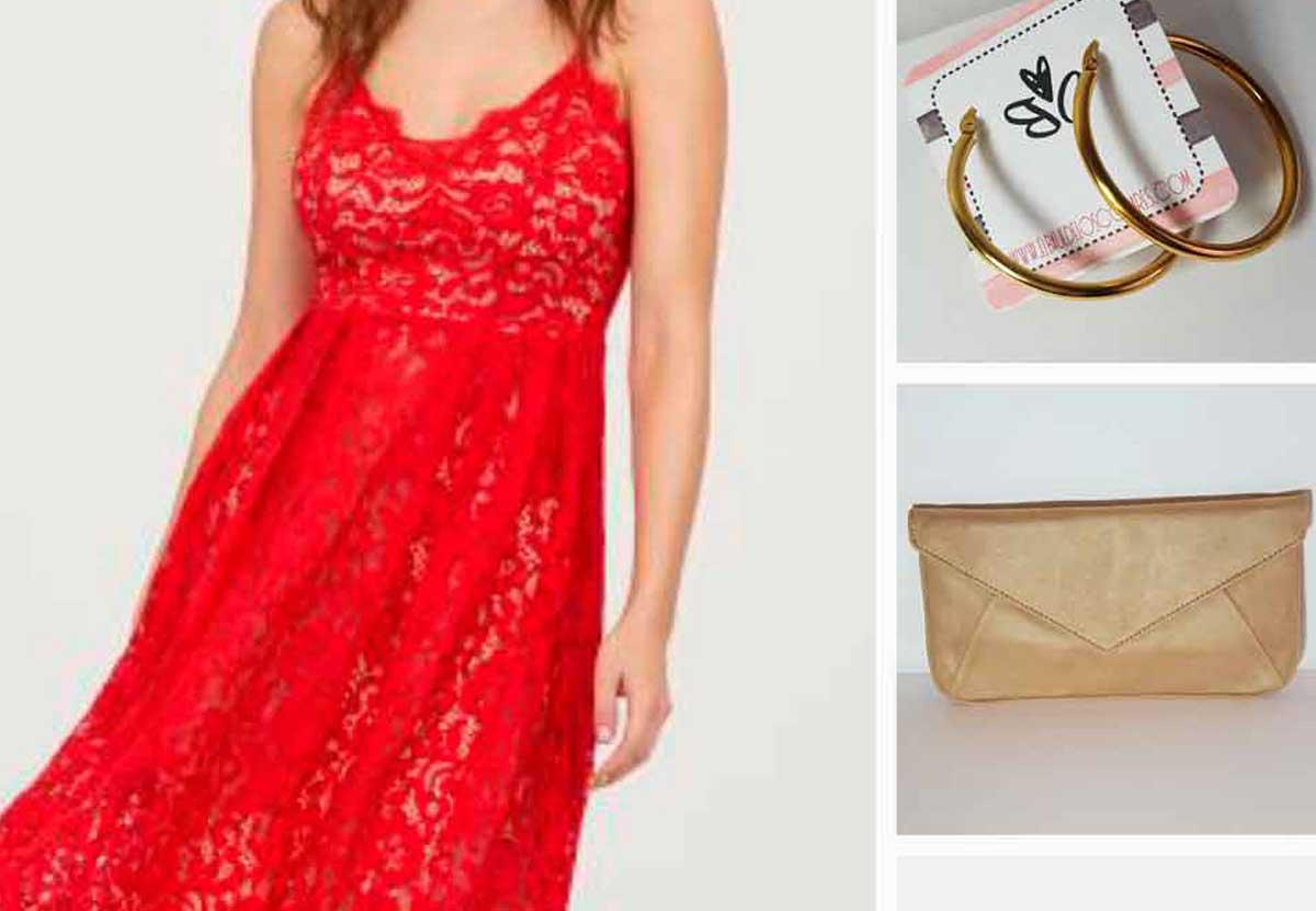 Inspírate Looks de fiesta Rojos
