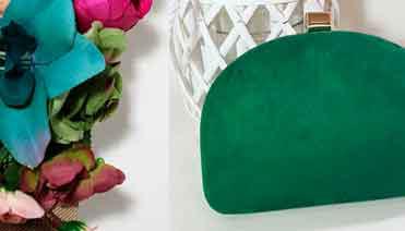 Bolsos de fiesta tonos verdes