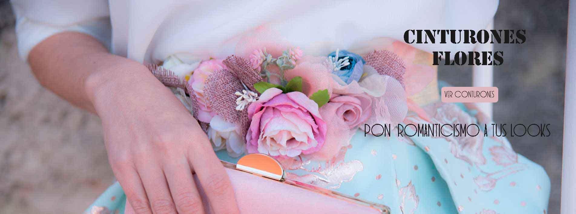 Cinturones de fiesta con flores